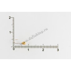 Мормышка вольфрамовая Капля с отверстием Ø 2,0 вес 0,11 г