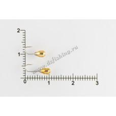 Мормышка вольфрамовая Капля с отверстием Ø 3,0 вес 0,35 г