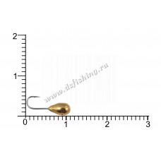 Мормышка вольфрамовая Капля с отверстием Ø 3,5 вес 0,57 г