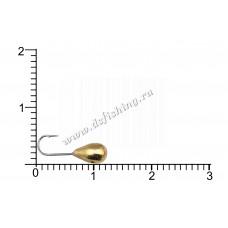 Мормышка вольфрамовая Капля с отверстием Ø 4,0 вес 0,82 г