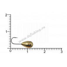 Мормышка вольфрамовая Капля с отверстием Ø 4,5 вес 1,31 г