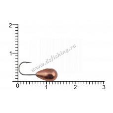 Мормышка вольфрамовая Капля с отверстием Ø 5,0 вес 1,6 г