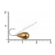Мормышка вольфрамовая Капля с отверстием Ø 6,0 вес 2,95 г