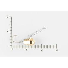 Мормышка вольфрамовая Капля граненая с отверстием Ø 5,0 вес 0,11 г