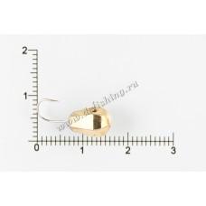 Мормышка вольфрамовая Капля граненая с отверстием Ø 6,0 вес 2,51 г