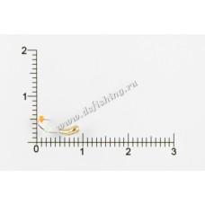 Мормышка вольфрамовая Чесночинка с фаской с отверстием Ø 2,5 вес 0,17 г