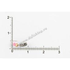 Мормышка вольфрамовая Чесночинка с фаской с отверстием Ø 3,0 вес 0,34 г
