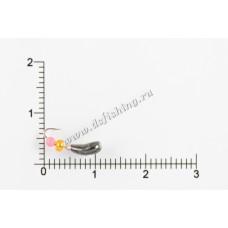 Мормышка вольфрамовая Чесночинка с фаской с отверстием Ø 4,0 вес 0,52 г