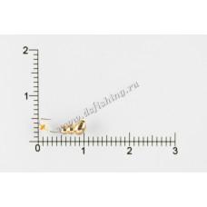 Мормышка вольфрамовая Муравей с отверстием Ø 2,5 вес 0,35 г