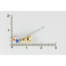 Мормышка вольфрамовая Муравей с отверстием Ø 4,0 вес 1,28 г