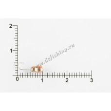 Мормышка вольфрамовая Муравей граненый с отверстием Ø 3,0 вес 0,41 г