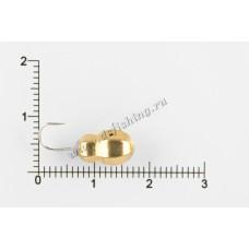 Мормышка вольфрамовая Муравей граненый с отверстием Ø 6,0 вес 3,2 г