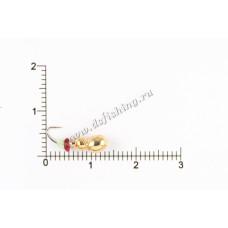 Мормышка вольфрамовая Муравей с фаской  с отверстием Ø 5,0 вес 1,1 г