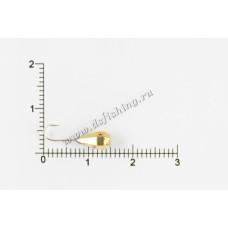 Мормышка вольфрамовая Капля с большими гранями с отверстием Ø 4,0 вес 0,84 г