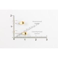 Мормышка вольфрамовая Капля с большими гранями с отверстием Ø 3,0 вес 0,33 г