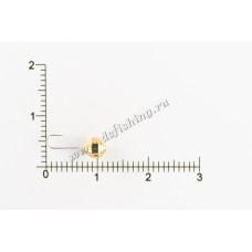 Мормышка вольфрамовая Шар с большими гранями с отверстием Ø 4,0 вес 0,53 г