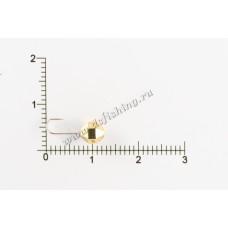 Мормышка вольфрамовая Шар с большими гранями с отверстием Ø 5,0 вес 0,88 г