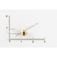 Мормышка вольфрамовая Шар с большими гранями с отверстием Ø 6,0 вес 1,4 г
