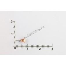 Мормышка вольфрамовая Звезда Ø 2,5 вес 0,21 г
