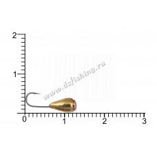 Мормышка вольфрамовая Капля с отверстием с коронкой Ø 4,0 вес 0,82 г