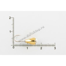 Мормышка вольфрамовая Капля с отверстием с коронкой Ø 5,0 вес 1,6 г