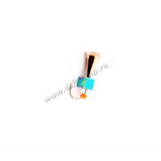 Капля с большими гранями с ушком Ø 3,0 вес 0,41 г