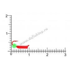 Столбики красные Ø 1,5 вес 0,30 г