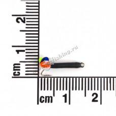 Чертик высокий черный  Ø 1,5 вес 0,3 г